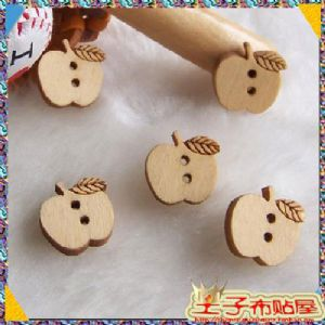 Wooden button, (XMK029)